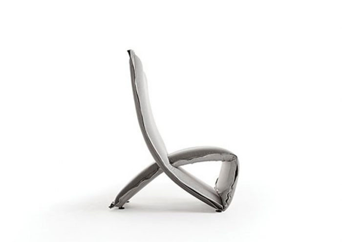 armchair silver