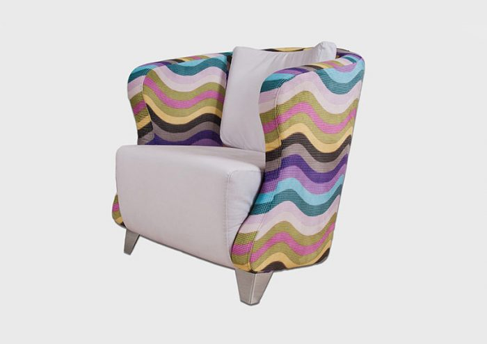 armchair with colors