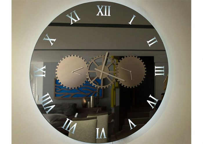 mirror with clock 3